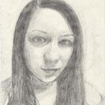 Selbstporträt, Bleistift auf Papier, 6Bb 2013/14_ Steffi