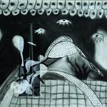 Ergaenzung Pablo Picasso, Kohlezeichnung, 2015