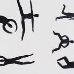 Körper in Bewegung, Tusche, 2015