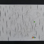 Mit Strukturen und Texturen spielen, Bleistift und Buntstift, 2015, 5Cn
