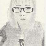 Selbstporträt, Bleistift auf Papier, 6Bb 2013/14_ Aida