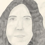 Selbstporträt, Bleistift auf Papier, 6Bb 2013/14_ Bianca