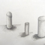 Körperhaftigkeit durch Schattierung, Bleistiftzeichnung, 5Cn, 2015/16