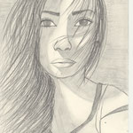 Selbstporträt, Bleistift auf Papier, 6Bb 2013/14_ Patrizia