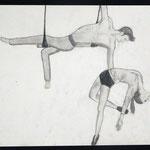 Menschen in Bewegung, Birgit Rieder, Bleistift auf Papier, 2014