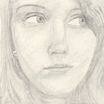 Selbstporträt, Bleistift auf Papier, 6Bb 2013/14_ Michaela