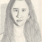 Selbstporträt, Bleistift auf Papier, 6Bb 2013/14_ Julia