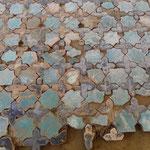 Détail d'un tapis avec des manques en bordure (Socra, 2013)