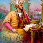 Portrait contemporain de Babur conservée au Musée Amir Temur de Tashkent (photo : M.Schvoerer, 2008)