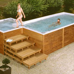 Swim-Spa Treppe, Variante 1