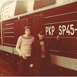 R. Łabuda po prawej M.Kremis po prawej przy SP45-177 ok. 1985, ze zb. R.Łabudy