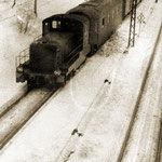 Lokomotywa SM30 na przetoku osobowym zima 1967/1968, foto: H.Magoń