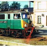 EU07-485 w Rębiszowie około 1995 roku na lokomotywie B.Sosnowski ze zbioru B.Sosnowskiego.