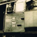 Stanisław Rusakiewicz na TKt2-32, około 1958, ze zbiorów S.Rusakiewicza
