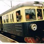 EN71-027 na stacji  Jelenia Góra, w oknie masz. R.Banach,ze zb. R.Banacha
