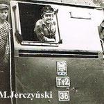 Przybylski W. ( maszynista) Jędrzejewski J. ( pomocnik) 20.6.1986, foto M.Jerczyński
