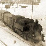Lokomotywa TKt2 na przetoku osobowym zima 1967/1968, foto: H.Magoń
