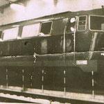 SP45-149 na stanowisku naprawczym lokomotywowni Jelenia Góra, ze zb. R.Łabudy