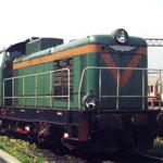SP42-223 przed halą lokomotywowni maj 1995 foto H. Magoń