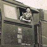 Pomocnik R. Łabuda na Ot1-8, ok. 1955, ze zbioru R. Łabudy