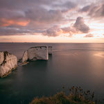 Old Harry Rocks Bei Sonnenaufgang (Isle of Purbeck, Dorset, GB)
