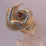 925 Silber / Granat VERKAUFT