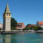 Blick auf den Mangturm in Lindau am Bodensee