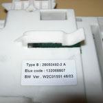 Type S28092492-2A ELUXcode 132068807  SW Ver. W2C01551 46/03