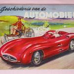 De geschiedenis van de automobiel, 1955, met 192 kleurenplaatjes, door Piet Olyslager. Uitgegeven door United Tobacco Agencies.
