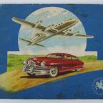 """Vliegtuigen en Auto's, 1950, uitgegeven door """"Superchocolade Jacques"""", 154 kleurenplaatjes (chromo's), tweetalig, Frans en Nederlands."""