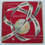 """De auto's in de wereld, 1964, uitgegeven door """"Superchocolade Jacques"""", 157 kleurenplaatjes (chromo's), tweetalig, Frans en Nederlands."""