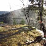 Nebelschwaden auf dem Burgstein