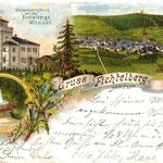 Das erste Fichtelberghaus wurde am 21. Juli 1889 eröffnet
