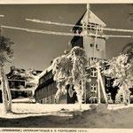 Eingeschneites Fichtelberghaus