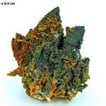 Association exceptionnelle de descloizite avec d'autres minéraux de plomb
