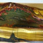 Jaspe - Oeil de tigre (or), oeil de faucon (vert) et oeil de taureau (rouge) - Marramamba - Australie