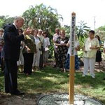 Peace Pole Dedication at old Shrine of the Master - photo courtesy of Jo Mooy