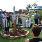 Peace Pole Dedication at Warm Mineral Springs - photo courtesy of Jo Mooy