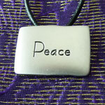 Peace in a necklace