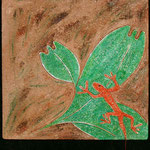 "Salamandre---2004---12"" x 12""---SOLD/VENDU"