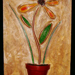"Flower / Fleur---2004---12"" x 24""---SOLD/VENDU"