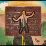 "The Wall / Le mur---2004---12"" x 12""---SOLD/VENDU"