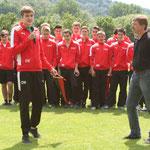 Wimpelübergabe B-Junioren (Meister Leistungsstaffel 2)