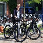 Probefahrt mit einem e-Bike