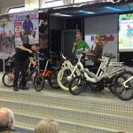 Gocycle auf der Elektrorad Bühne