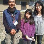 4/1 鹿児島から来てくださったボランティアスタッフさんと(右:小池さん)