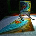 Spiegelung in Farbe