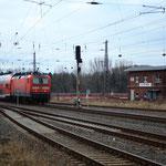 Ausfahrt der RB nach Chemnitz aus dem Bahnhof Mittweida