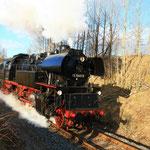 65 1049 mit Sonderzug nach Chemnitz in Waltersdorf