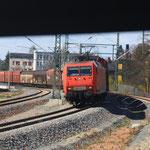 145 041 mit Gz nach Braunschweig in Hohenstein Ernstthal